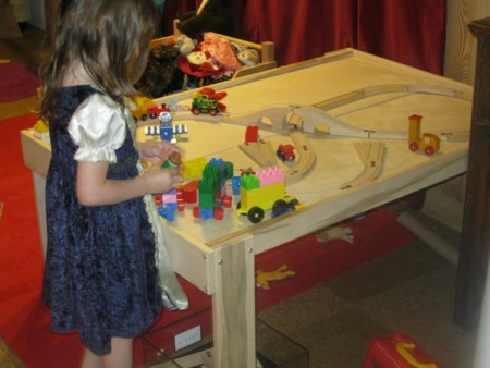 "Beka Train/Play Table with 1/2"" split top - American Made"