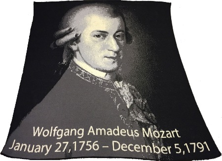 Mozart Throw/ Blanket American Made
