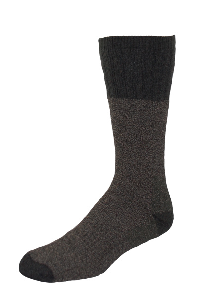 Heavy Weight Marl Wool/Acrylic Blend Crew Socks Made in USA - 3 Pairs