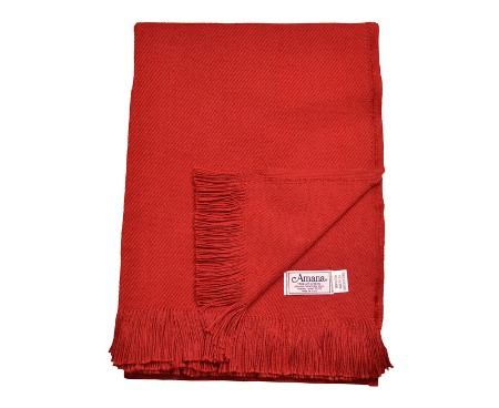 Cotton Throw Blanket Made in USA - Solid Twill