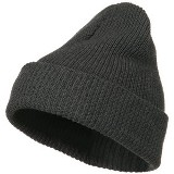Eco Cotton Ribbed Big Cuff Beanie Made in USA