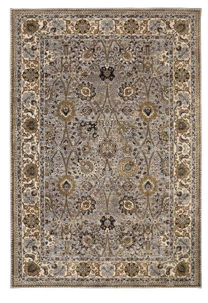 Karastan Spice Market Aden Silver Area Rug Made in USA