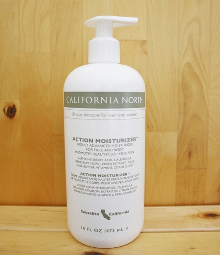 Mens California North Action Moisturizer bottle with 16 oz. Pump Bottle