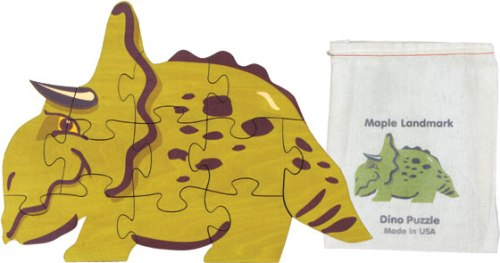 Shaped Jigsaw Puzzle Made in USA, Dinosaur