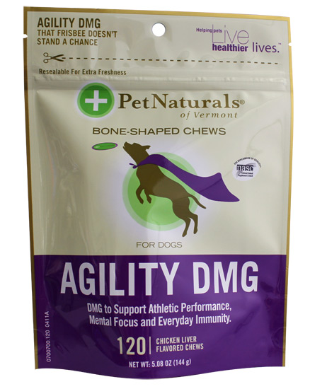 Agility DMG Bone Shaped Chews for Dogs Chicken Liver - 120 Chewables - American Made
