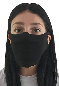 Unisex Ltweight Visc Bamboo Org Jersey Face Mask Made in America