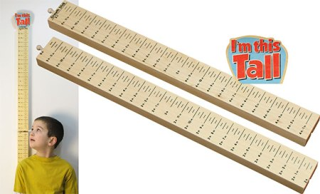 Maple Landmark Growth Stick Made in America - I'm This Tall