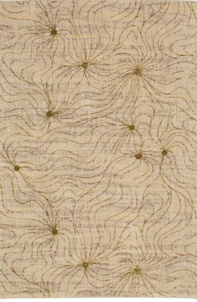 Enigma Donatella Desert by Virginia Langley Antique White Area Rug Made in USA