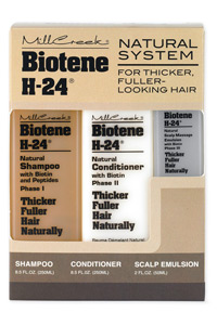 Mill Creek Biotene H-24 Tri-Pack Shampoo Conditioner Scalp Emulsion Made in USA