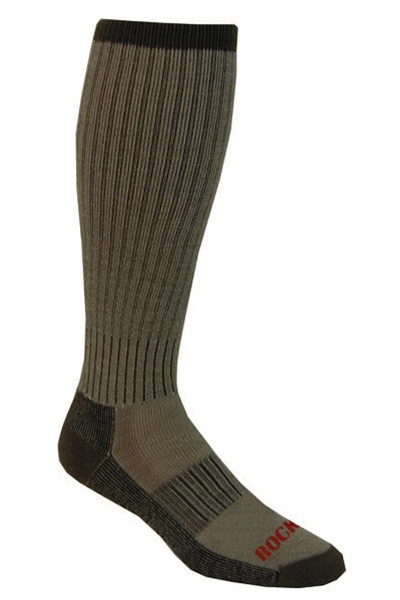 Mid Weight Merino Wool Over-the-Calf Sock Made in America - 2 prs