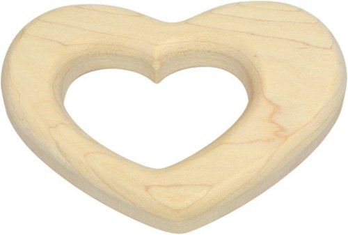 Maple Teether Heart American Made