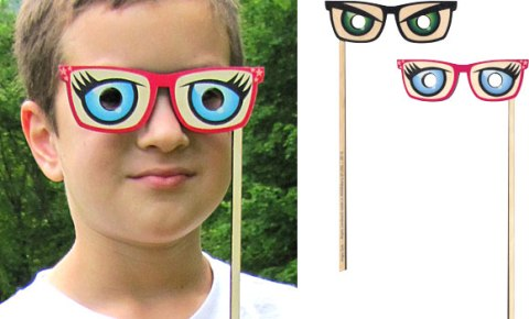 Silly Sticks - Angry Eye Glasses Made in USA