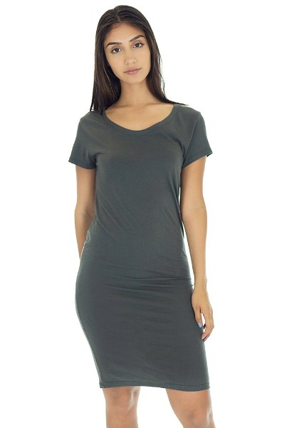 Women's Bamboo Organic Tee Dress Made in USA