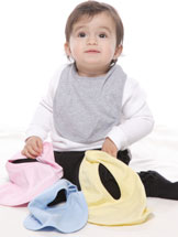 Cotton American Made Bibs - Set of 3