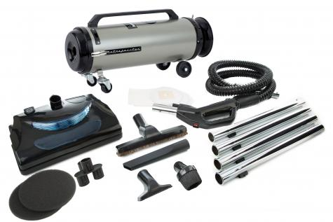 Professional Evolution American Made Full Size Canister Vacuum with Electric Power Nozzle 2-Speed