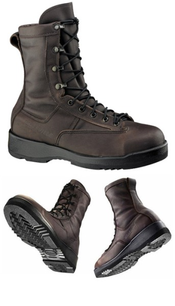 330 ST -Belleville Wet Weather Chocolate Brown Safety Toe American Made Flight Boot USN/USMC