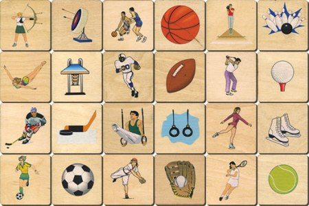 Memory Tiles Made in USA, Sports