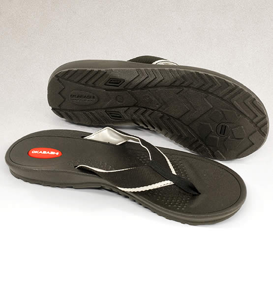 Men's Indigo Flip Flop Sandals Made in America by OBAKASHI