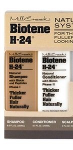 Biotene H-24 Shampoo & Scalp Massage Emulsion Set - Thicker Fuller Hair Naturally Made by Millcreek - Free of Parabens!