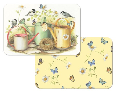Chickadees & Butterflies Placemat American Made - Set of 6