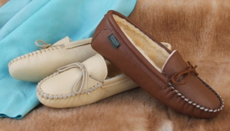 Footskins Womens Softsole Sheepskin Slippers American Made - Indoor use