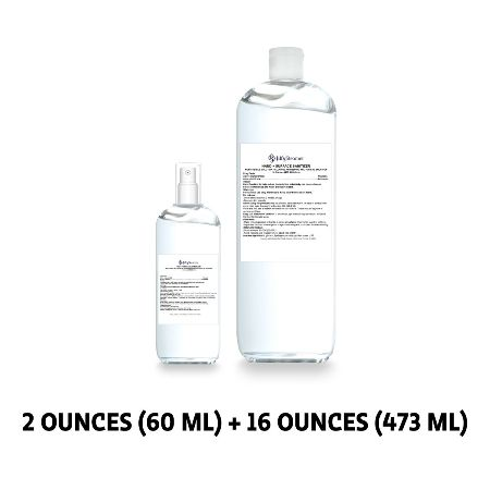Hand + Surface Sanitizer - Bundle: 2 oz. with Spray Mist Top and 16 oz. Refill Bottle Made in America