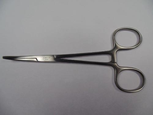 "Kelly Forceps 5.5"" Serrated Jaws Curved Scissors Made in USA"