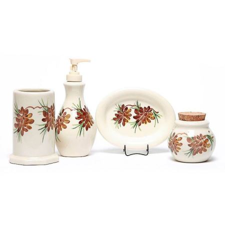 Pinecone Bathroom Set Made in USA