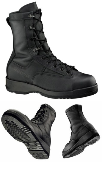 800 ST - Belleville Waterproof Black Safety Toe Flight and Flight Deck Boot Made in USA