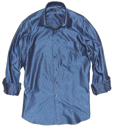 Blueville Decor Jacquard Shirt American Made By Andrew Design