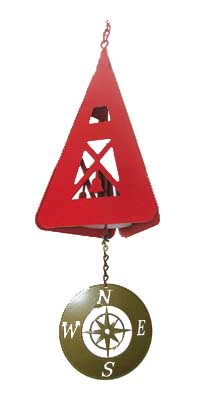 North Country Compass Rose (Port) Bell Made in America