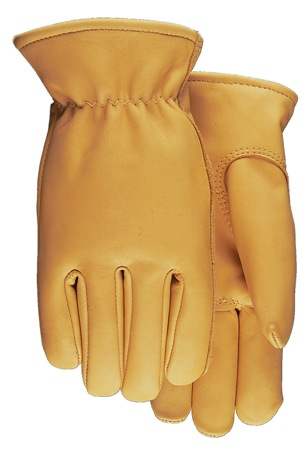 Smooth Grain Saddletan Cowhide Drivers Glove Made in USA