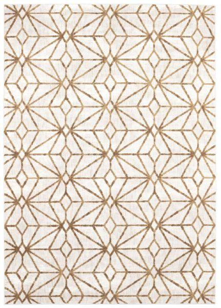 Artisan Celeste Brushed Gold by Scott Living Antique White Rug Made in USA