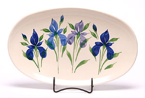Iris Oval Serving  Platter Made in USA