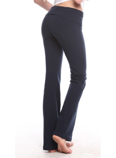 Ladies Spandex Jersey Yoga Pants Made in USA