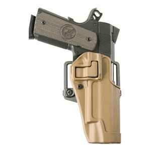 Blackhawk Serpa Concealment Holster, LH, Coyote Tan, CF Finish, 1911