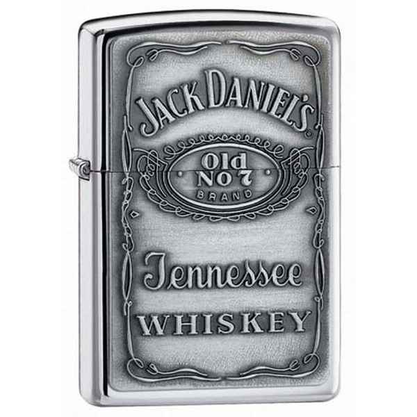 Zippo High Polish Chrome, Jack Daniels Emblem