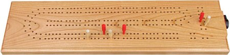 Maple Landmark Cribbage Made in USA - Cherry Continuous