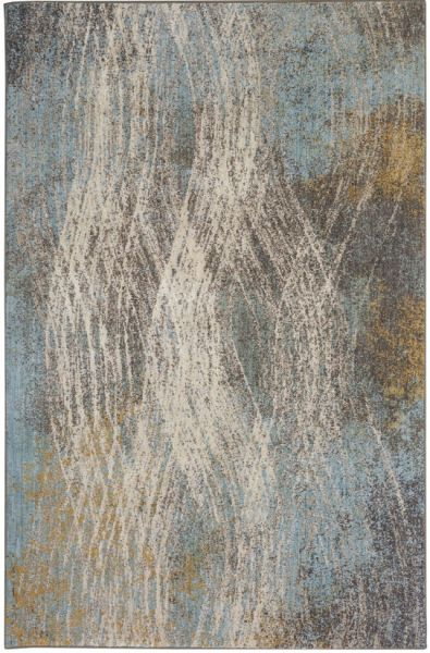 Enigma Allure Jade by Virginia Langley Multi Collection Are Rug Made in USA