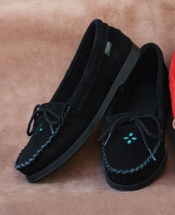Footskins Suede Flower Shoes  - Made in USA