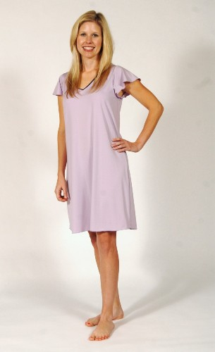 Ladies Cap Sleeved Knee Length Nightgown Made in USA