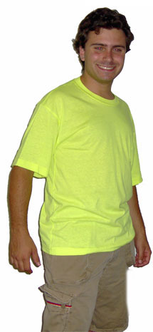 Safety Green S/S Pkt T-Shirt Made in USA