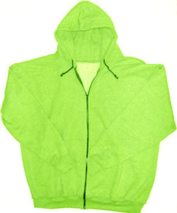 Safety Green Zippered Sweatshirt Made in America