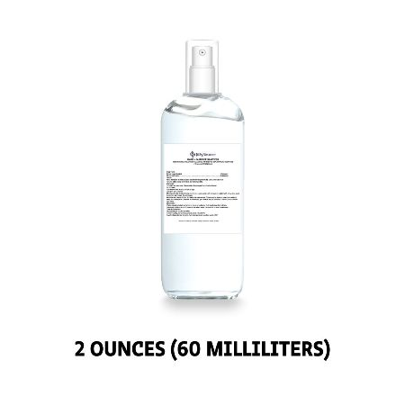 80% Ethyl Alcohol Sanitizer - 2 Ounce Finger Pump Spray Bottle Made in USA - Case of 12
