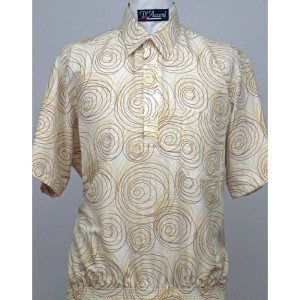 Gold Coast Banded Bottom Shirt in Polyester Made in USA