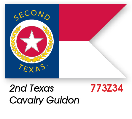 2nd Texas Cavalry Guidon Civil War Flag Made in USA