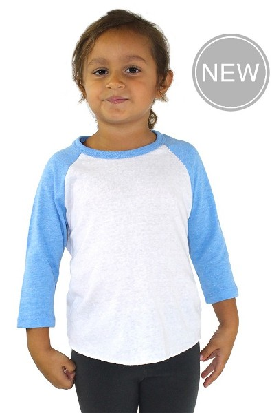 Toddler Triblend Raglan Baseball Shirt American Made