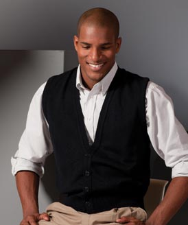 Men's Button Vest Made in USA