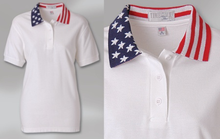 LADIES? PATRIOTIC SPORT SHIRT MADE IN USA