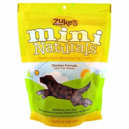 Zukes Mini Moist Natural Dog Treats American Made - 3 pack, Chicken